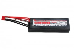 Аккумулятор Team Orion Carbon Pro LiPo 7.4V 2S 100C 7200mAh (Deans) фото