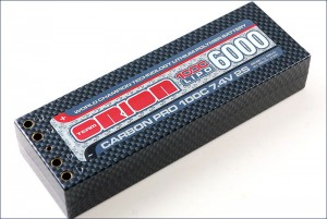 Аккумулятор Team Orion Carbon Pro LiPo 7.4V 2S 100C 6000mAh (Tubes) фото