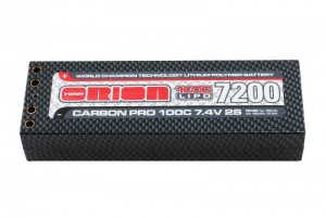 Аккумулятор Team Orion Carbon Pro LiPo 7.4V 2S 100C 7200mAh (Tubes) фото