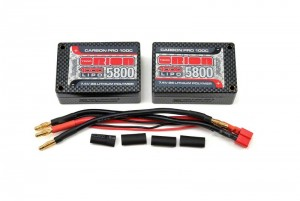 Аккумулятор Team Orion Carbon Pro LiPo 7.4V 2S 100C 5800mAh (Tubes) Saddle Pack фото