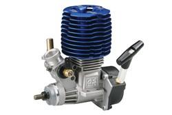 Двухтактный двигатель O.S. Engines Max-18CV-RX для автомоделей с синим радиатором и карбюратором 11J фото
