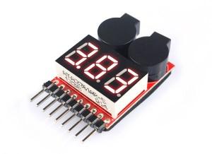 Индикатор напряжения + индикторо разряда EV-Peak для LiPo 1-8S фото