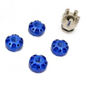 Гайки колесные RC Car Wheel Aluminium Lock Nuts - Light Blue фото