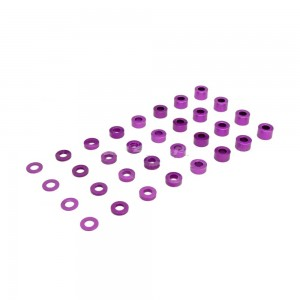 0.5/1.0/1.5/2.0/2.5/3.0/3.5/4.0mm 1/10 RC Racing CarAlloy Washer Set - Purple фото