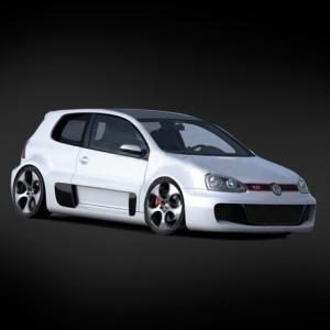Неокрашенный кузов Volkswagen Golf W12 GTI (200мм) с отражателями для шоссейных моделей 1:10 - SWS-B-W12GTI