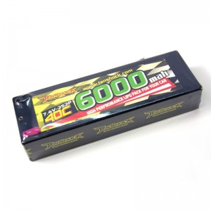 Аккумулятор Tenshock Hardcase 7.4v 6000mAh 40C with Deans to Banana Connector фото
