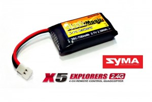 Аккумулятор Black Magic LiPo 3.7V 700mAh 35C для квадрокоптеров Syma X5 фото