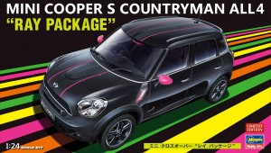 "Сборная модель автомобиля Mini Cooper S Countryman All4 ""Ray Package"" Limited Edition 1:24 фото"