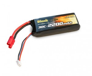 Аккумулятор Black Magic LiPo 7.4V 2S 30C 2200mAh (Tubes Plug) фото