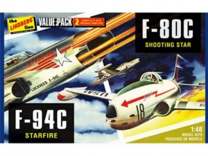 Сборные модели самолетов Hawk Lindberg US Korean War (F-80C Shooting Star & F-94C Starfire) 1:48 фото