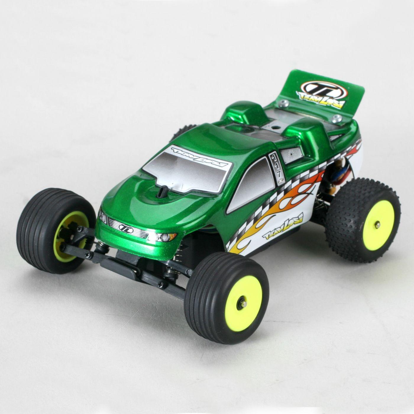Радиоуправляемая модель Трагги Losi Micro-T 2WD RTR 1:36 (зеленая) - LOSB0230T3