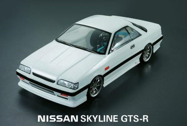 Кузов не окрашенный Nissan Skyline GTS R31 coupe 2000 с отражателями, масками и наклейками - SWS-B-GTSR31