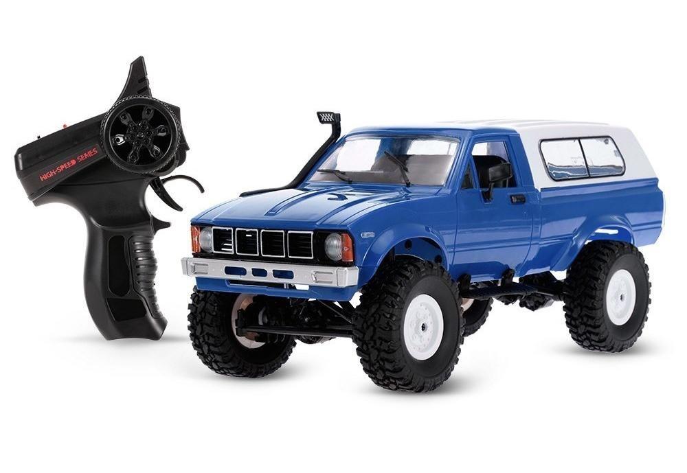 Радиоуправляемая модель Краулера WPL Military Truck Buggy Crawler 4WD RTR 1:16 (синяя) - WPLC-24-R-Blue