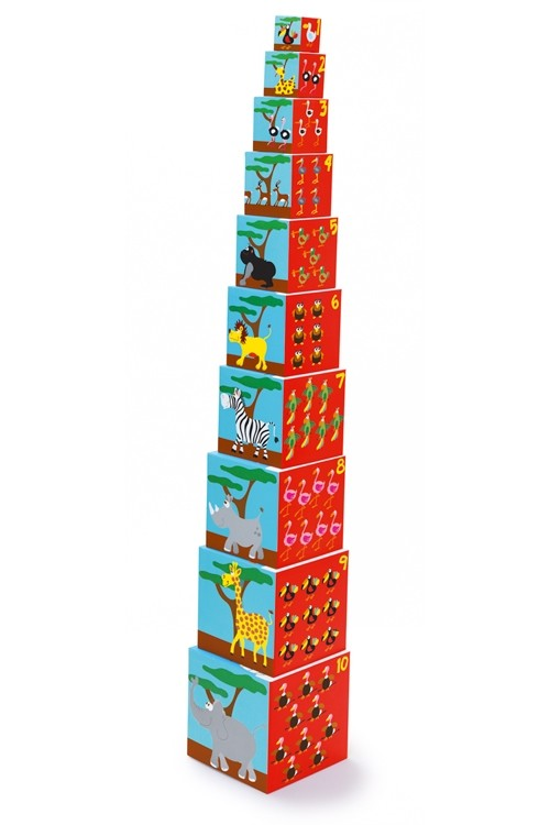 Кубики SCRATCH 6181034 Stacking Tower Animals of the world фото