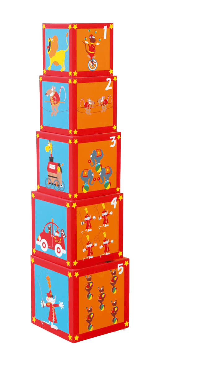 Кубики SCRATCH 6181050 Stacking Tower Сircus фото