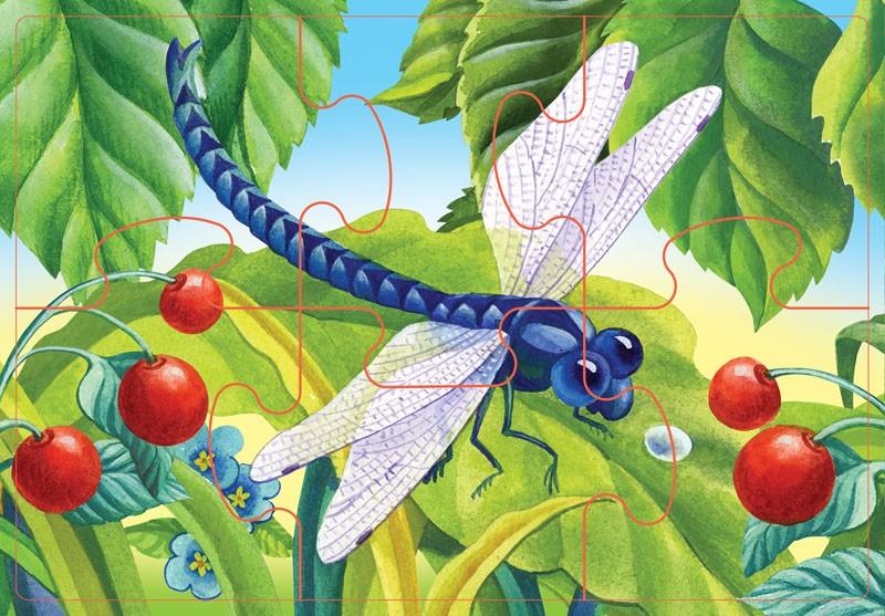картинка сада с насекомыми роспись хохлома только