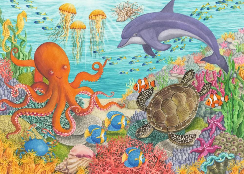 подводный мир открытку в дет сад рисунок нужно как можно
