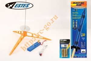 Модель ракеты Estes Blast-Off Blue Crayon Rocket (Launch Set+ RTF) фото