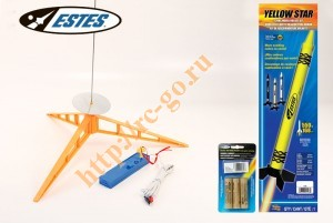 Модель ракеты Estes Yellow Star Crayon Rocket (Launch Set+ RTF) фото