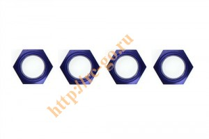 Wheel nut with nylon(Blue/4Pcs) фото