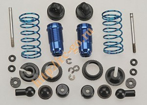 Амортизаторы - Factory Team 18T Front Threaded Kit, with collars, blue aluminum (2шт) фото