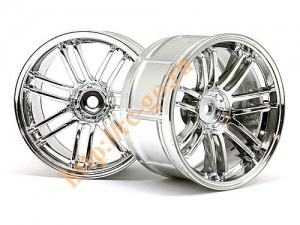 Диски колес 1/10 - LP29 Rays Volk Racing RE30 Chrome (2шт) 3mm Offset фото