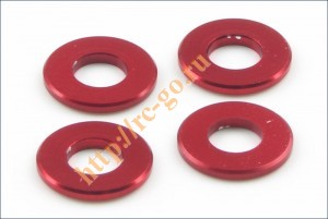 Aluminum Color (3x6.5x0.75mm/Red/4pcs) фото
