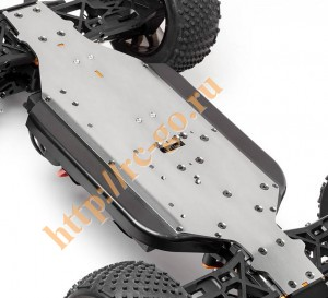Пластина шасси 6061 Trophy Truggy Flux (Gunmetal) фото