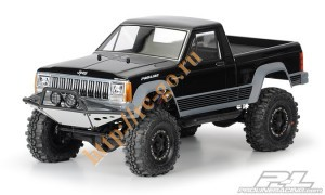 "Неокрашенный кузов Proline Jeep Comanche Full Bed Clear Body для краулера 1:10 Axial SCX10 12.3"" и а фото"