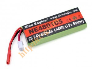 Аккумулятор Nine Eagles LiPo 7.4V 2S 600mAh для вертолетов фото