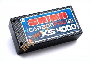Аккумулятор Team Orion Carbon Pro XS LiPo 7.4V 2S 90C 4000 mAh для автомоделей (banan 4 mm) фото