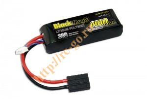 Аккумулятор Black Magic LiPo 11.1V 3S 30C 1400mAh (TRX) для автомоделей фото