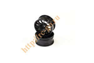 Wheel(14-Spoke/Black/Offset4mm/24mm/2p) фото