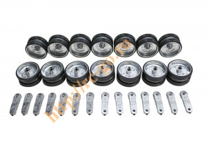 hobby metal shoulder wheel ( 14 pcs of shoulder wheels & 28 pcs of rubber & 28 pcs of bearing and 14 фото