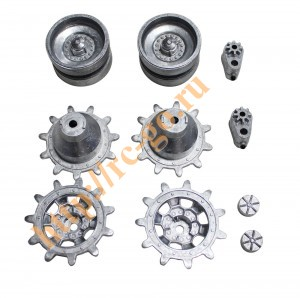 hobby metal sprocket & idler wheel ( with 4 pcs of bearing & 2 pcs of adjustment tension ) фото
