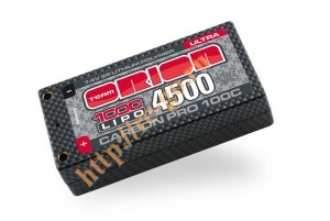Аккумулятор Team Orion Carbon Pro LiPo 7.4V 2S 100C 4500mAh Shorty Pack Hard Case (Tubes) фото